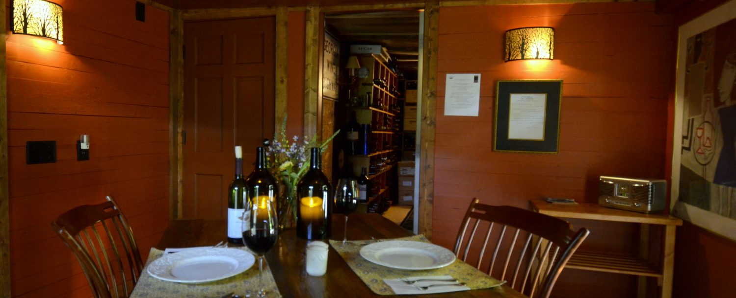 Dining in our Wine Cave - Beechwood Inn
