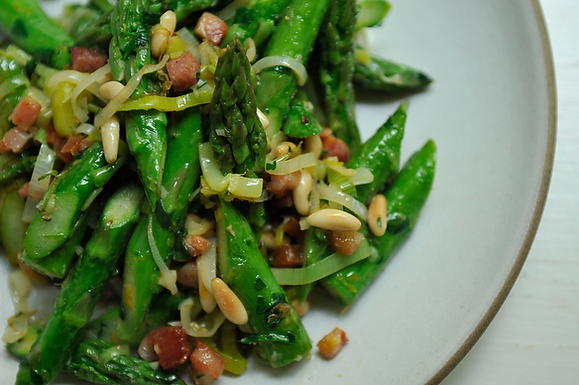 Fresh Asparagus and Pancetta
