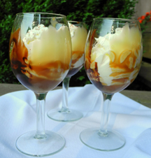 White Chocolate Mousse with Chocolate and Caramel