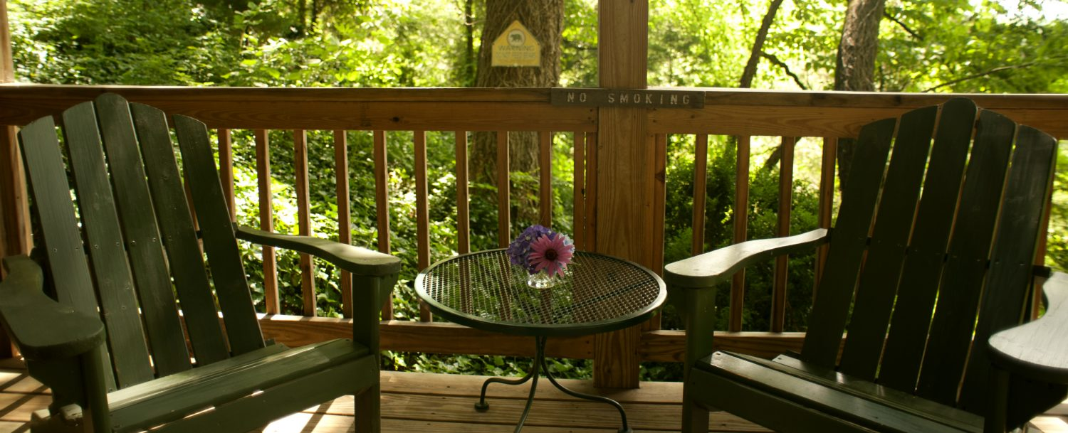 Blueberry Cabin Porch