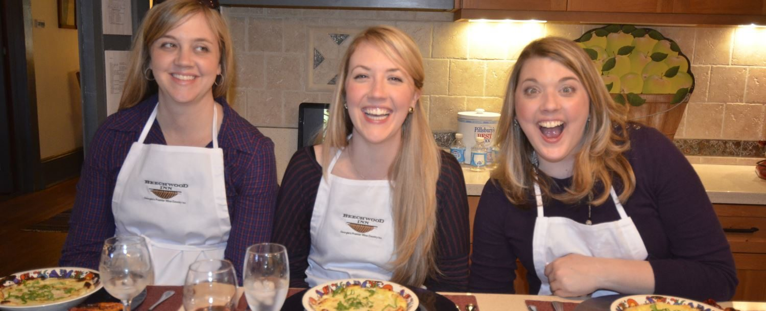 Mallory sisters cooking class