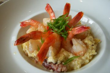 shrimp and grits at Beechwood Inn