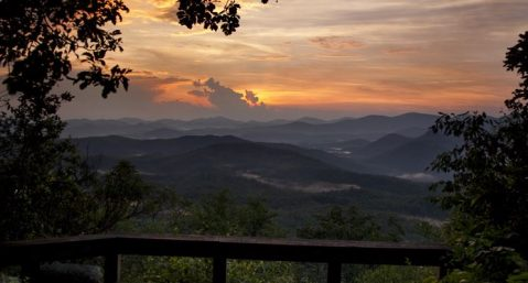Tennessee Rock sunset