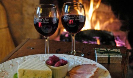 wine and cheese at Beechwood Inn