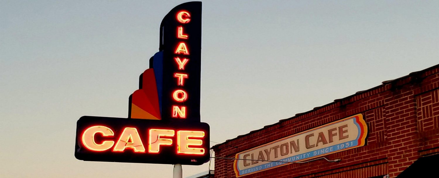 Clayton Cafe sign