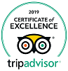 Certificate of Excellence (2019) from TripAdvisor for Beechwood