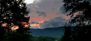 Storm and Sunset over Black Rock Mountain Viwed from Beechwood Inn's Front Porch