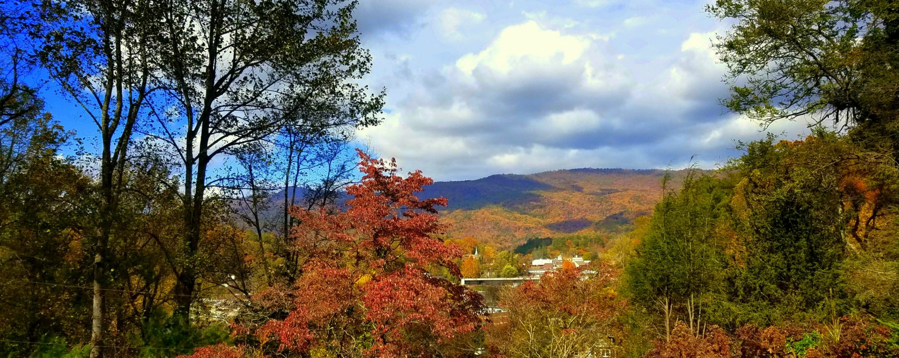 Photo of the View of Black Rock Mountain from Beechwood Inn in the fall