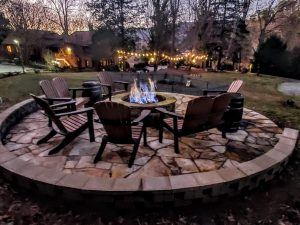 Photo of Beechwood Inn's Fire-Pit at Dusk