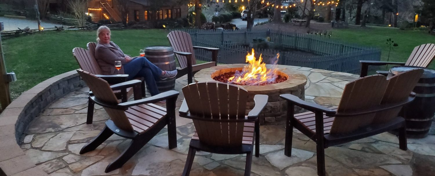 Image of Fire=Pit at Beechwood Inn for guest enjoyment
