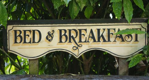 Image of Bed and Breakfast Wooden Sign