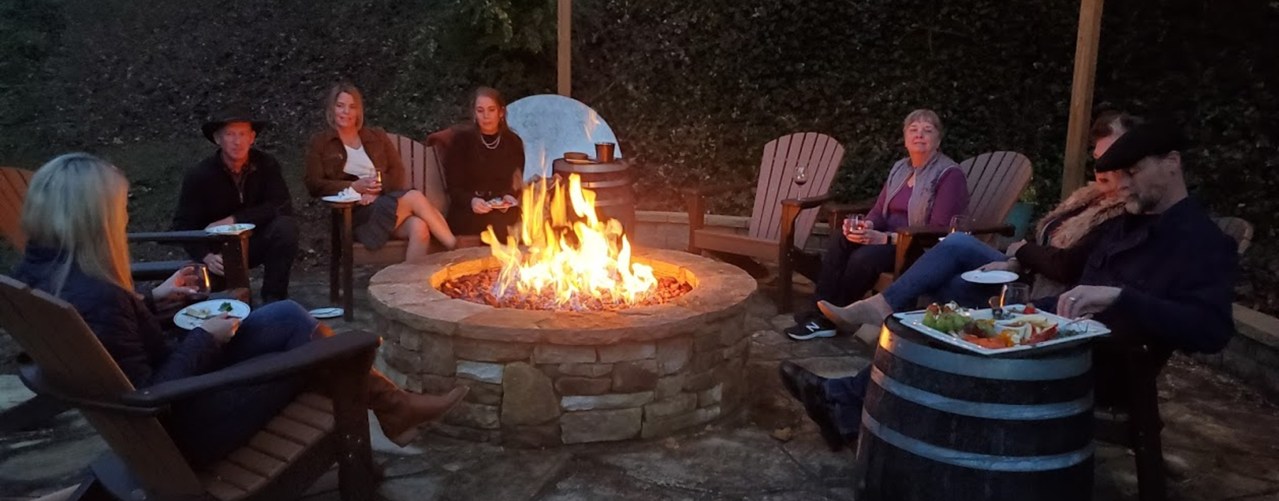 Image of Fire Pit and Guests at Beechwood Inn