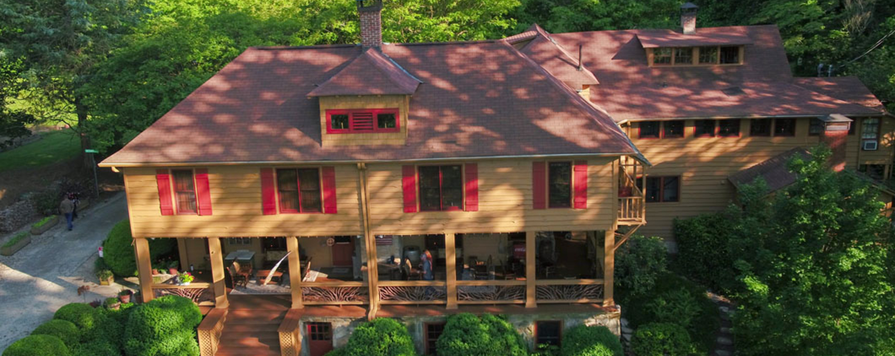 Image from Drone Flight over Beechwood Inn